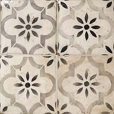 I'd like to find a ceramic tile that looks like this cement tile (to pass health if possible) for the doorway between the Taqueria line and the Bar. Blue tile to 5 ft (see other pic) and this to ceiling.
