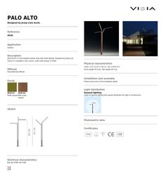 Lantarenpaal  Palo Alto 4536 IP 65 4xled strip 24 V 10W designed by Josep Lluis Xucià