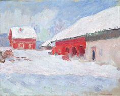 """""""Norway, The Houses at Bjornegaard"""" by   Claude Monet, 1895"""