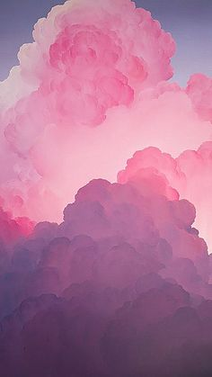 Pink clouds wallpaper, phone wallpaper pink, pink and purple wallpaper