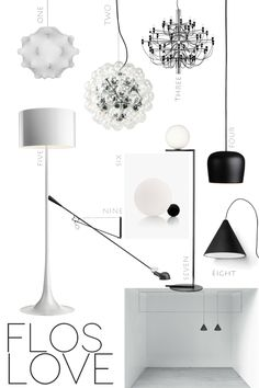 flos lamps - lighting design - ITALIANBARK interior design blog