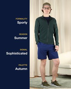 What I wear to the gym 💪 colors: green, beige, and navy Gym Style, Sporty Outfits, What I Wore, Sustainable Fashion, Bermuda Shorts, Beige, Autumn, Mens Fashion, Navy