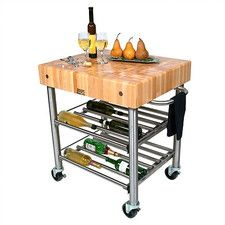 lowprice Cucina Americana D'Amico Kitchen Cart with Butcher Block Top Sale Good