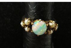 Antique Victorian 14K Gold Opal and Seed Pearl by Alohamemorabilia, $275.00