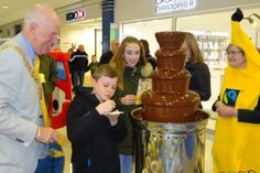 "We're just in the middle of Fairtrade Fortnight at the moment '"" and Fareham has been very involved so far. Fairtrade Fortnight, Chocolate Fountains, Fair Trade, Desserts, Food, Tailgate Desserts, Fair Trade Fashion, Dessert, Postres"