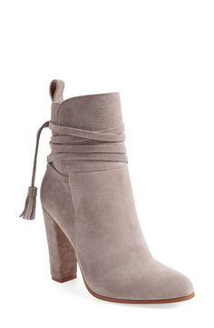 Free shipping and returns on Steve Madden 'Glorria' Block Heel Bootie (Women) at Nordstrom.com. Tassel-embellished wraparound straps dress up a luxe suede bootie set on a chic, tapered block heel.