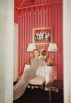 Tent style; 1952 Vogue