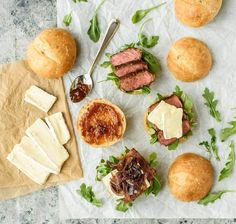 Juicy Steak Sandwich Recipe with Brie, Caramelized Onions and Fig Jam. An amazing flavor combination!