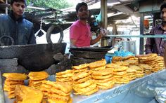 On a street food mission in Amritsa, India - pakora