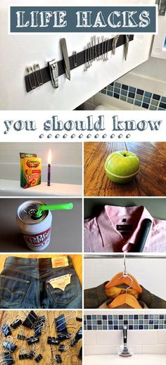 Did you know you could use a crayon as a candle in case of an emergency? 8 other awesome life hacks you must know! http://www.ehow.com/list_12340385_life-hacks-should.html?utm_source=pinterest.com&utm_medium=referral&utm_content=inline&utm_campaign=fanpage