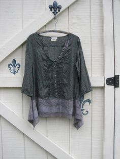 Boho Tunic fall blouse ML Lagan look tunic rustic by ShabyVintage, $45.00