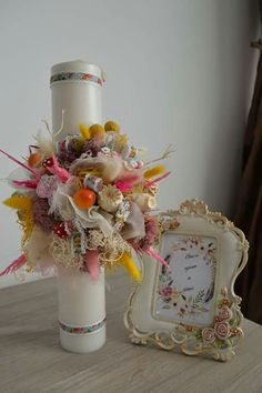 Candles, Table Decorations, Home Decor, Home, Baptisms, Decoration Home, Room Decor, Pillar Candles, Dinner Table Decorations