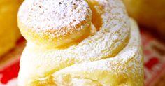 甘くて、ふわっふわな食感♡ シュガーマーガリンを塗って焼き、仕上げに粉糖をふりかけました。 エンサイマダのような感じ!?
