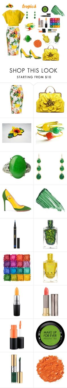 Tropical Glamour by siriusfunbysheila1954 on Polyvore featuring Melissa McCarthy Seven7, Charlotte Olympia, By Terry, Yves Saint Laurent, Illamasqua, Ultimate, MAC Cosmetics, MAKE UP FOR EVER, Urban Decay and Jil Sander