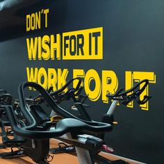 Dont Wish for It Work for It, Gym, Gym Wall Decal, Gym Sign, Gym Decor, Gym Decal for Home Gym, Gym for Wall, Gym Stickers for Wall, Sticker Wall Stickers, Wall Decals, Vinyl Decals, Gym Interior, We Bear, Gym Decor, Dojo, White Vinyl, New Wall