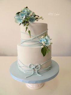 Baby blue wedding  by MOLI Cakes - http://cakesdecor.com/cakes/270409-baby-blue-wedding