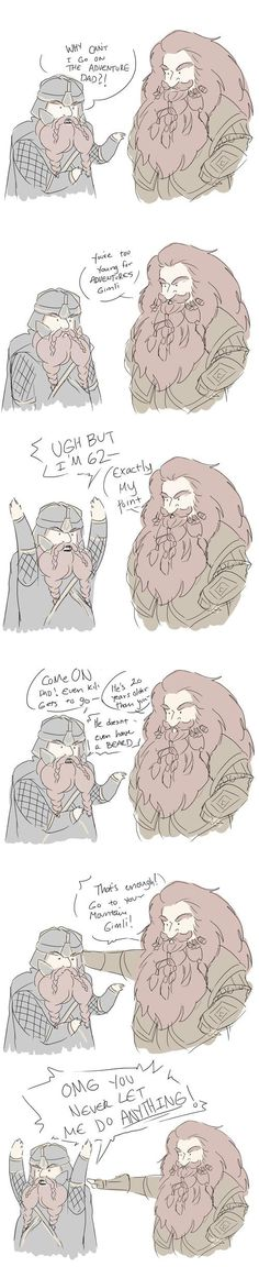 Hahaha little Gimli and his daddy Gloin