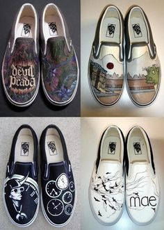 HANDPAINTED Custom vans shoes Design your by stabbyvonkillerstein, $179.99