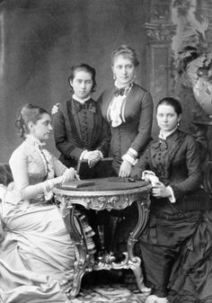 A rare photographed Princess Zénaide with her sister Tatiana Nikolaevna Youssoupoff , Princess Tatiana Alexandrovna and a relative.