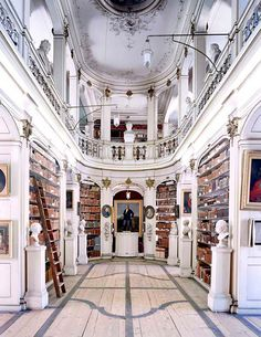 Beautiful Libraries and Bookshops...Duchess Anna Amalia Library, Weimar, Germany, photo by Candida Höfer.