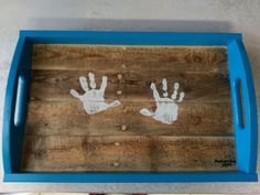 """Dayton on Twitter: """"@iliketomakestuf I followed your video for the pallet tray and made a mother's day gift for my wife. Had my daughter put handprints on it! https://t.co/cWT7yoyBwb"""""""