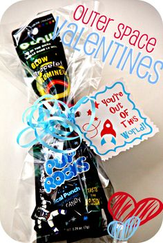 Outer Space Valentines - awesome dollar store usage too!! // Blue Skies Ahead