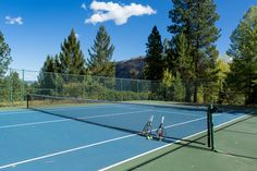While playing a game of Tennis enjoy a breathtaking view of the West Fork Valley beyond and below the court. Complimentary rackets and balls are available from the lodge.