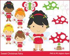 Sweet Christmas Fairy Digital Clipart $3.00