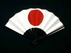 Red Sun Vintage Paper Fan Japanese National by FromJapanWithLove