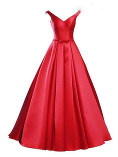 e8775c247 New Arrival 2016 Elegant Red Prom Dresses Sexy V Neck Off The Shoulder  Natural Waist With Bow Lace Up Back Prom Dress-in Prom Dresses from  Weddings   Events ...