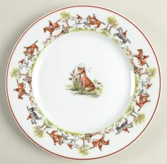 Tally Ho Salad Plate by Royal Limoges Coffee Candle, Tally Ho, Pattern Code, Equestrian Decor, Salt And Pepper Set, Cup And Saucer Set, Serving Plates, Salad Plates, China Dinnerware