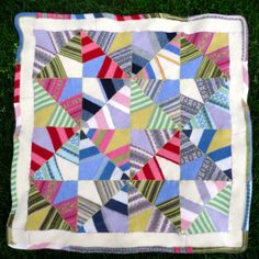 Gorgeous recycled wool quilt from the Finish Something Already blog