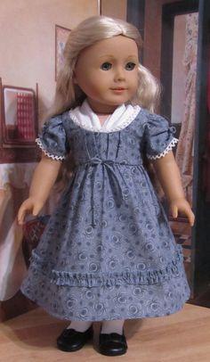 OOAK Regency Gown & Fichu Made to Fit 18 by KeepersDollyDuds