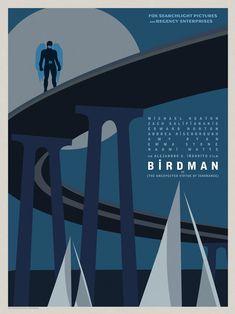 """Birdman"" Goes Coast To Coast In Gorgeous Posters For Alejandro González Iñárritu's Genre-Defying New Film Best Movie Posters, Minimal Movie Posters, Original Movie Posters, Oscar Winning Films, Movie Teaser, Recent Movies, Film Images, Advertising Poster, Minimalist Poster"