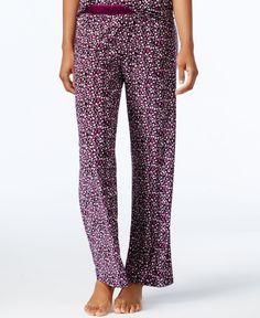Alfani Satin-Trimmed Printed Pajama Pants, Only at Macy's