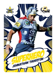 No matter your superhero, PowerPlay Xtreme has you covered! PowerPlay Xtreme cards available in stores from April so get collecting! Johnathan Thurston, Cowboys, Captain America, Superhero, Room, Cards, Fictional Characters, Collection, Bedroom
