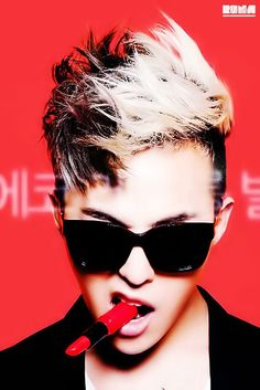 G Dragon - The Saem Global Eco Red Lipstick Advertisement