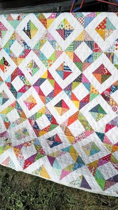 Half Square Triangles scrappy style | Fluffy Sheep Quilting