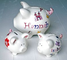 Personalised Piggy Bank For S