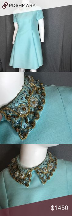 GINO CHARLES For I.MAGNIN Beaded Collar Dress GINO CHARLES For I.MAGNIN Beaded Collar Dress.  Very rare vintage couture! Gino Charles Dresses Midi