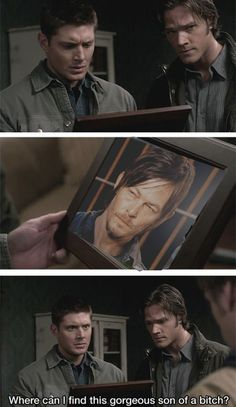 If he was on supernatural that would be an awesome episode!<---- zombie apocalypse episode where they team up with the cast of walking dead!
