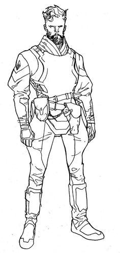 Empress character design by Stuart Immonen, inks by Wade Von Grawbadger *: