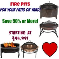 HOT DEAL OF THE DAY!! Save 50% or more off CobraCo Fire Pits! Perfect for those cool summer eves out on the patio!! As little as $94.99 shipped!  Click the link below to get all of the details ► http://www.thecouponingcouple.com/50-or-more-off-cobraco-fire-pits/  #Coupons #Couponing #CouponCommunity  Visit us at http://www.thecouponingcouple.com for more great posts!