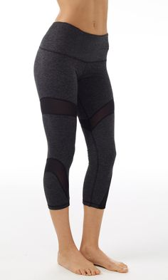 Daisy Cropped Legging With Mesh