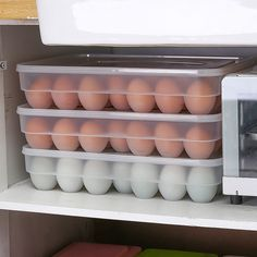 Now hot sale! Buy for USDFree worldwide shipping! Egg Storage, Cheap Storage, Storage Boxes, Refrigerator Organization, Kitchen Refrigerator, Grid Design, Edge Design, Container Specifications, Storing Eggs