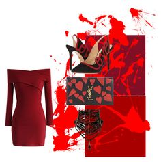 """Untitled #20"" by pensacolaparisian on Polyvore featuring Chicwish, Charlotte Olympia and Yves Saint Laurent"