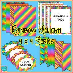 $ #Rainbow Delight! Mini #Seller #Starter Pack #Clip #Art CU OK {4444}