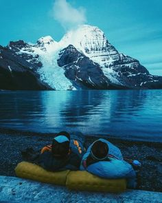 Front row seats to blue hour Mount Robson British... | #adventure #travel #wanderlust #nature #photography