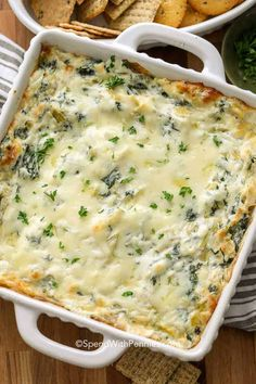 Dip Recipes 67483694402274838 - This Spinach Artichoke Dip recipe is everyone's favorite appetizer. A creamy cheesy base loaded with spinach, a bit of garlic and of course marinated artichokes. Best Spinach Artichoke Dip, Creamy Spinach Dip, Artichoke Recipes, Marinated Artichoke Dip Recipe, Fresh Artichoke Dip Recipe, Best Appetizer Recipes, Hot Appetizers, Vegetable Appetizers, Party Dip Recipes