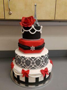 Bolo de Aniversário Feminino - 28 Idéias Maravilhosas Bolo Fashionista, Neon Sweet 16, Bolo Paris, Paris Cakes, White Cakes, Day Plan, Cake Decorating Techniques, Custom Cakes, Birthday Celebration